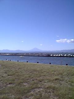 弁天橋から望む富士山
